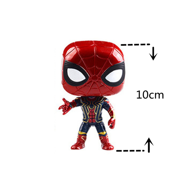 10CM PVC action figure marvel collection Toy Avengers Infinity War Iron Man SpiderMan figure Captain America Thor