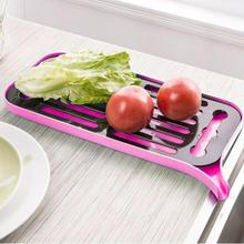 Plastic Drain Dish Rack Kitchen Multi-Function Double-Layer Tray Fruit Storage Water