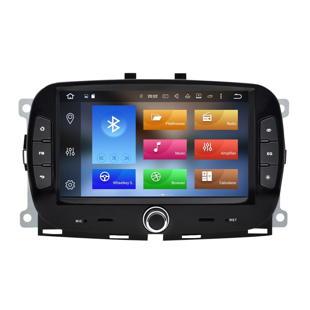 Для Fiat 500 Android 2016 2017 2018 2019 7 дюймов 2 Din Автомобильный мультимедийный плеер WIFI навигация GPS авто стерео головное устройство FM BT