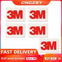 CNGZSY 5pcs 3M 소프트 울 스퀴지 자동차 포장 비닐 필름 설치 도구 필름 색조 Scrapr Soft SqueegeeScratch Free Decal Scraper