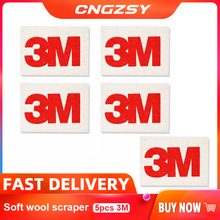 CNGZSY 5pcs 3M רך צמר מגב רכב גלישה ויניל סרט להתקין כלי סרט גוון Scrapr רך SqueegeeScratch משלוח מדבקות מגרד