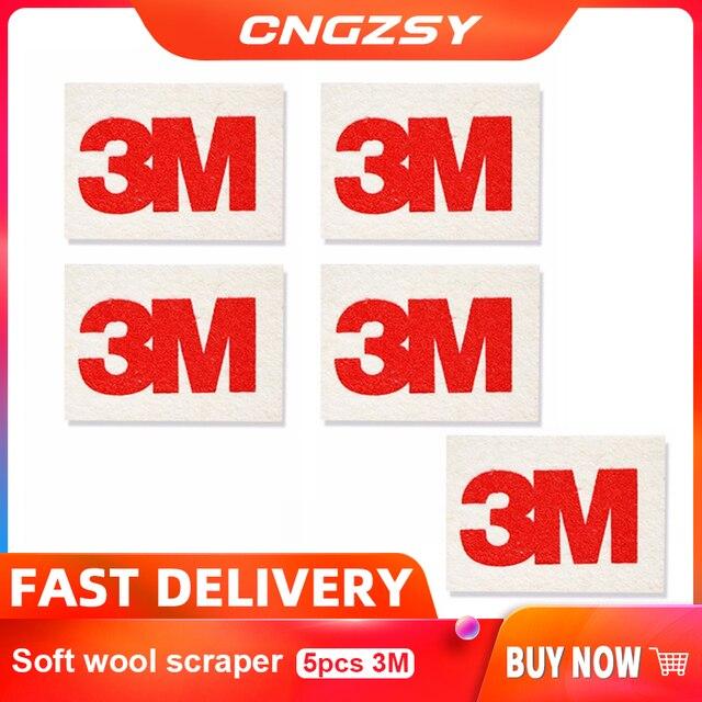 CNGZSY 5pcs 3M Soft Wool Squeegee Car Wrapping Vinyl Film Install Tool Film Tint Scrapr Soft SqueegeeScratch Free Decal Scraper