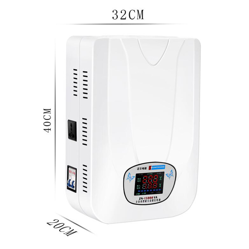220 В 15 кВт автоматический бытовой регулятор напряжения Ультра низкое давление регулятор кондиционера 15000 Вт вход 130-270 в ZN-15KW