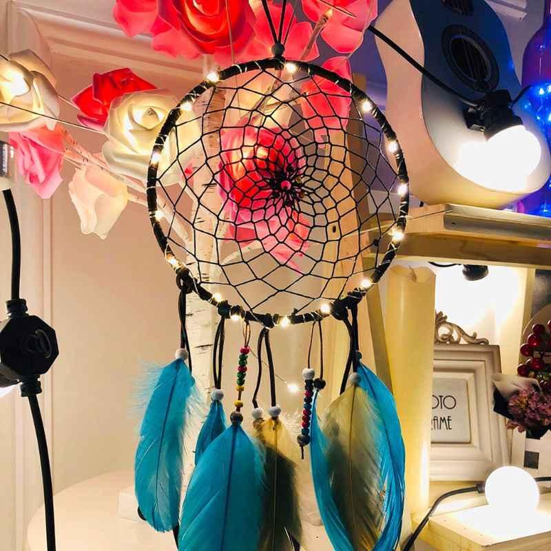 הודי סגנון צבע נוצת לוכד חלומות תליית עיצוב הבית פשוט נוצה בעבודת יד תכשיטי Creative בעבודת יד מתנה