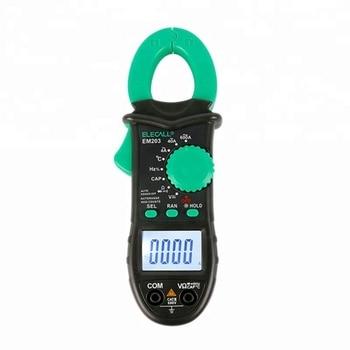 EM203 4000 Counts AC/DC Voltage Current Resistance Capacitance Frequency Temperature Digital Clamp Meter 1pcs mastech ms8269 3 1 2 digital multimeter lcr meter ac dc voltage current resistance capacitance temperature inductance test