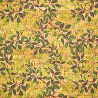 Green vine Leaves pattern cork leather fabric cork tissue, cork sheet, natural material COF-261