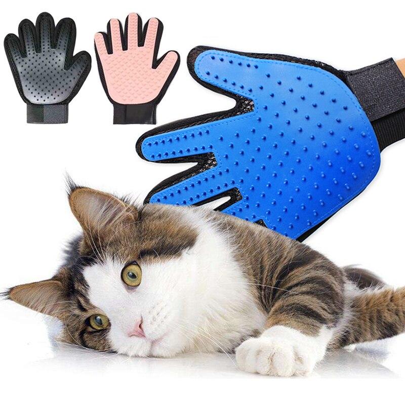 Силиконовая перчатка для кошек и кошек, мягкая эффективная перчатка для груминга собак и кошек