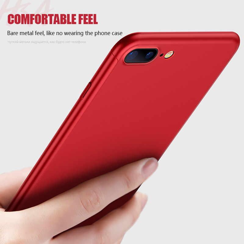 الهاتف حقيبة لهاتف أي فون 8 7 Plus 360 الحماية الكاملة 6 6s Plus Case 5 5s SE Luxury X 10 غطاء هاتف 11 Pro XR Xs Max X Capa