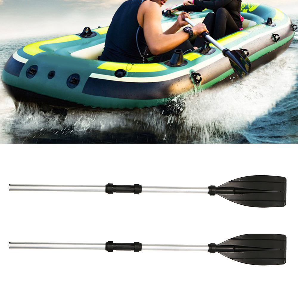 New 2 Pcs Aluminum Alloy Detachable Float Afloat Oars Fitting Boat Rafting Paddle Canoe Oar Boating Accessories Ponton Shipping in Rowing Boats from Sports Entertainment