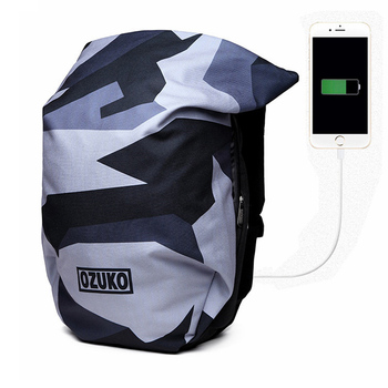 New 15 Inch Laptop Backpack Fashion Camouflage Oxford Cloth Waterproof Backpack USB Charging Male Women Casual Travel School Bag фото