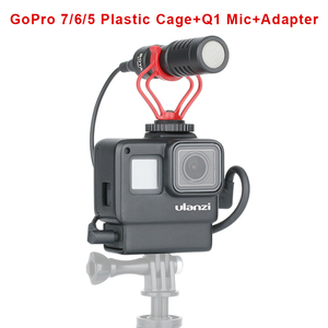Image 4 - מקורי 3.5MM GoPro מיקרופון מתאם עבור GoPro גיבור 9 8 גיבור 7 גיבור 6 גיבור 5 שחור/HERO5 מושב מיקרופון מתאם כבל AAMIC 001