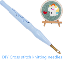 Knitting Needles Punch Needle Tool DIY Cross