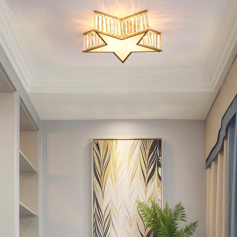 Новая бронзовая креативная постсовременная хрустальная лампа