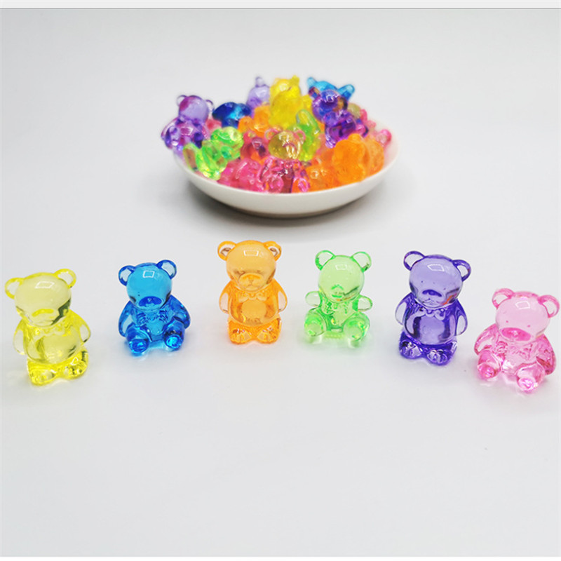 5 Pieces 27*35mm Acrylic Crystal Bear Shape Game Pieces For Board Games Accessories