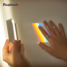 Realmote 3PCS Triangle Color Prism Crystal K9 Optical Glass Right Angle Reflecting Prisme For Teaching Light Spectrum