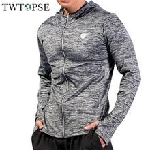 TWTOPSE быстросохнущие мужские спортивные майки для настольного тенниса, ветрозащитная куртка с капюшоном, пальто для бега, фитнеса, тренажерного зала, велоспорта