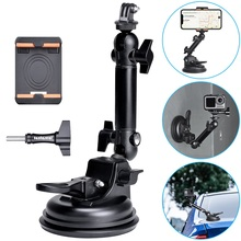 Action Camera Smartphone Suction Cup Race Car Cockpit Mount Motion Vehicle Windshied Hood Rooftop Holder for GoPro Sony Phone