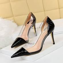 2021 verão sandálias de tornozelo das mulheres moda nova sexy bombas femininas cor sólida metal apontado dedo do pé senhoras escritório saltos altos