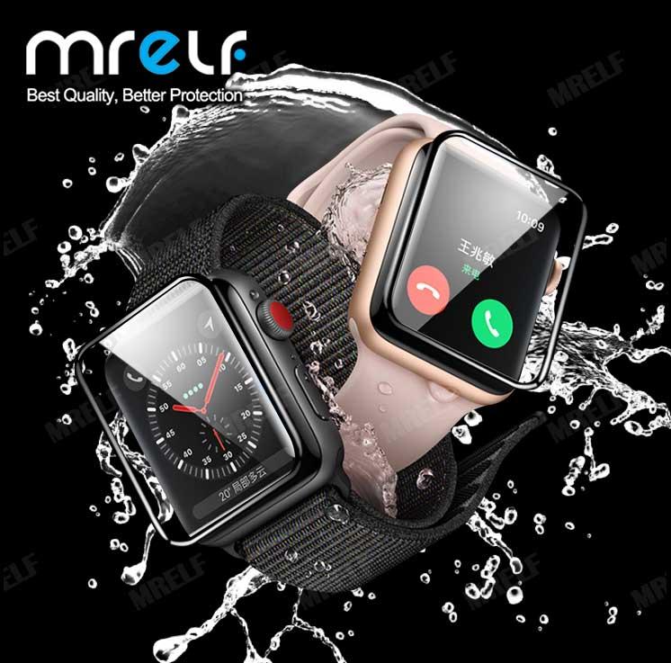 Закаленное стекло 3D HD для яблочных часов, Защитная пленка для экрана серии 5 4 3 42 мм 38 мм, стекло для яблочных часов iwatch 1 2 44 мм IWatch Защитные стёкла и плёнки      АлиЭкспресс