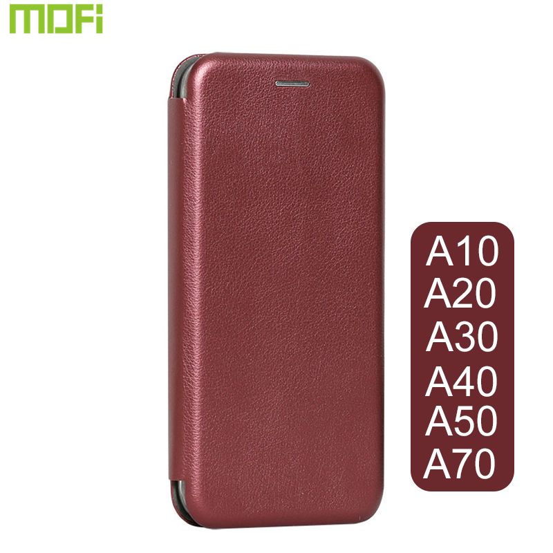 For <font><b>Samsung</b></font> <font><b>A50</b></font> Case <font><b>Flip</b></font> <font><b>Cover</b></font> Mofi For <font><b>Samsung</b></font> A30 Case Book Style <font><b>Cover</b></font> A10 A20 A30 A40 A70 <font><b>Cover</b></font> Black Wine Red Deep Gold image