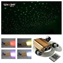 32W RGB Quang Sợi Ánh Sáng Động Cơ Bộ Đèn Ngôi Sao Âm Trần Quang Có 0.75 Mm 1.0 Mm Cáp Quang bầu Trời Đầy Sao