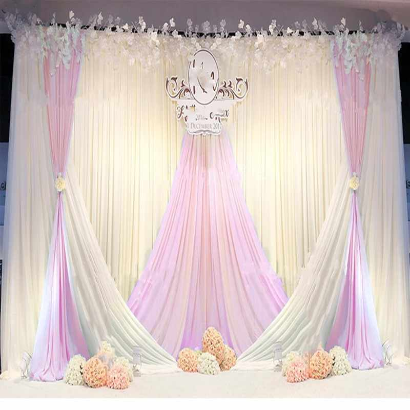 The New Ice Silk Cloth Fashion Wedding Background Curtain Birthday Party Stage Performance Engagement Ceremony Background Veil Party Backdrops Aliexpress