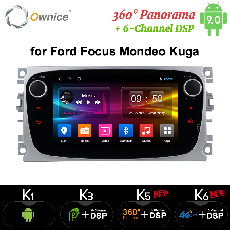 Ownice K1 K2 K3 lecteur DVD de voiture Android 2 Din radio GPS Navi pour Ford Focus Mondeo Kuga C-MAX S-MAX