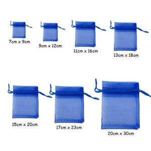 Image 5 - 50pcs 7x9 9x12 10x15 13x18CM Organza Gift Bags Jewelry Packaging Bag Wedding Party Decoration Drawable Bag Gift Pouches White 5z