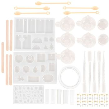 79pcs Silicone Resin Molds Diy Jewelry Casting Tools Set Designs Contains 9 jewelry