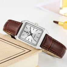 Wwoor 2020 Топ Бренд роскошные женские квадратные часы коричневые