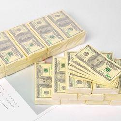 10 листов/пакет Смешные доллар узор ткани Бумага одноразовые Полотенца чистая древесина Портативный деньги салфетка платок вечерние столов...