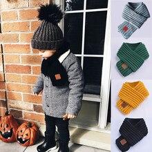 Горячая Распродажа, детский зимний шарф для мальчиков и девочек, детский шарф с помпоном, теплые шарфы для шеи, вязаные шерстяные теплые шарфы, echarpe foulard