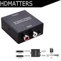 Konwerter audio RCA L/R analogowego do cyfrowe optyczne SPDIF konwerter audio z zasilaczem