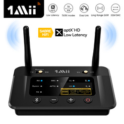 Bluetooth 5,0 приемник-передатчик 1Mii B03Pro, aptX LL HD CSR8675 HiFi 32 бит DAC 3,5 мм Aux Bluetooth адаптер для ТВ, ПК, наушников