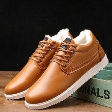 GNOME/зимняя мужская обувь на меху; кожаная повседневная обувь; коллекция года; модная мужская обувь в Корейском стиле; Универсальные мужские туфли-оксфорды для вождения