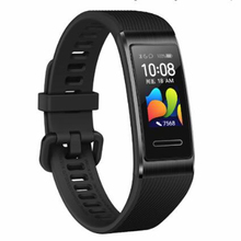 Original Huawei Band 4 Pro สายรัดข้อมือสมาร์ทนวัตกรรมใบหน้า GPS แบบสแตนด์อโลน ProActive Health การตรวจสอบ SpO2 เลือดออกซิเจน