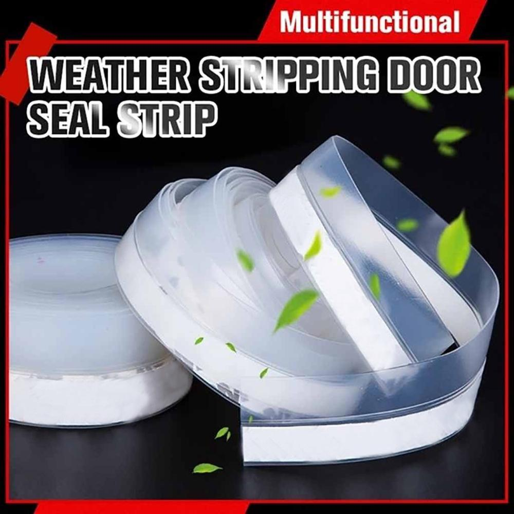 Self Adhesive Weather Stripping Door Windows Silicone Draft Stopper Seal Strip