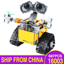 цены на Idea Robot WALL E 16003 Model Building Kits Action Figures Educational Blocks Bricks Toys for Children Gifts Fit Legoingly 21303  в интернет-магазинах