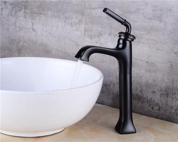 Vidric New Arrivals brass Basin Faucet hot and cold  Water Faucet black single lever Wash Faucet Crane bathroom sink faucet basi