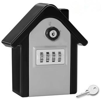 Big Password blokada klawiszy zewnętrzny sejf naścienny odporny na warunki atmosferyczne 4 kombinacja cyfr przechowywanie kluczy blokada es tanie i dobre opinie CN (pochodzenie) NONE