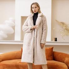 Fur Coats Faux-Fur-Coat Warm Long Winter Plus-Size Women Luxury New Loose Female Thickening