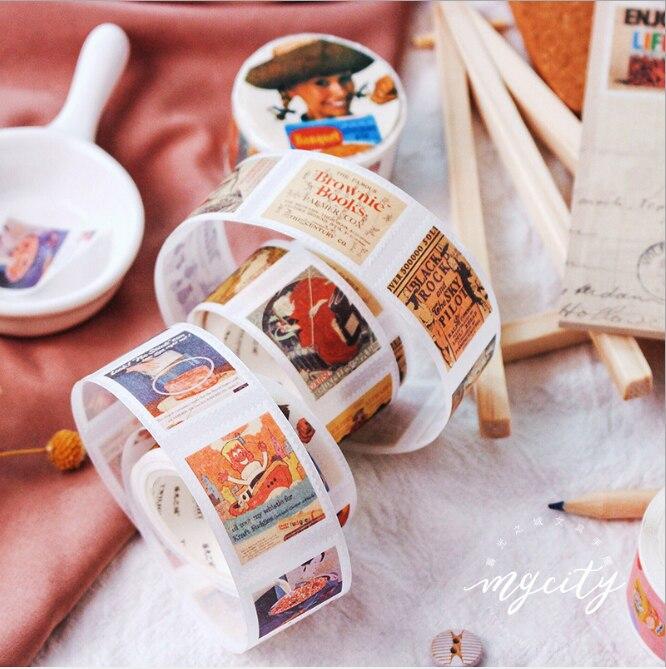 10 pcs diy japones papel decorativo fita adesiva mini selo adesivo serie washi fita fita adesiva