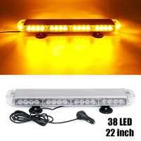 22 114W 12V 24V Car LED Roof Strobe Light Bar Emergency Signal Warning Light Flash Amber Magnetic Truck Trailer Bus 24 Modes