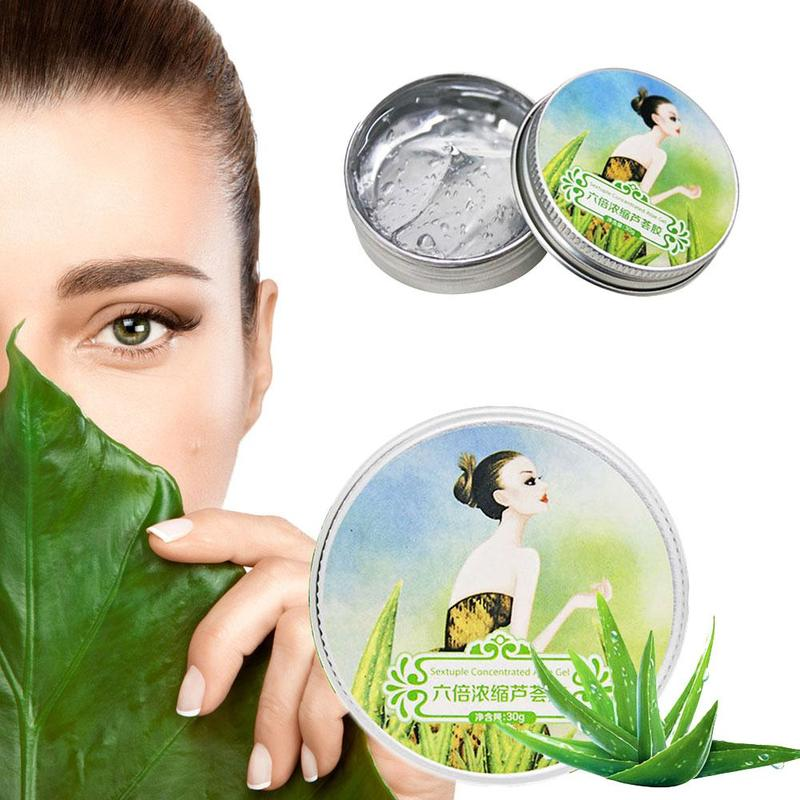 100% Pure Natural Aloe Vera Gel Smoothing Moisture Repair Cream Sunblock Face Acne Treatment Gel for Skin Repairing 30ml