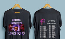 Chris Brown Indigo Tour 2019 with Dates Mens Black T-Shirt Size : S - 3XL For Men/Boy Short Sleeve Cool Tees