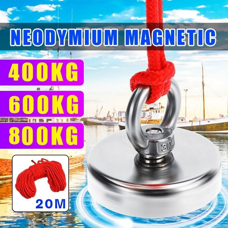 800 кг супер сильный магнит горшок рыболовные магниты спасательный рыболовный крючок магниты сильный постоянный мощный магнитный + 10 м верев...