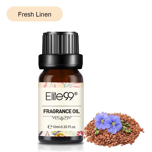 Elite99 Frische Bettwäsche Duft Öl 10ml Blume Obst Weiß Moschus Ätherische Öle Für Baden Aromatherapie-luftbefeuchter Massage Öl