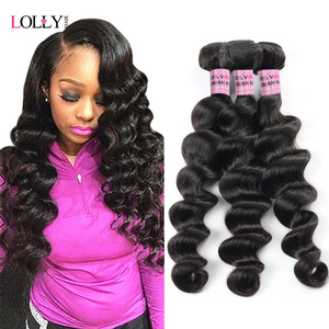 Brazilian Hair Bundles Loose Deep Wave Human Hair Extensions Remy Hair Can Buy 4 Or 3 Bundles Natural Color 1 Piece Hair Weave(China)