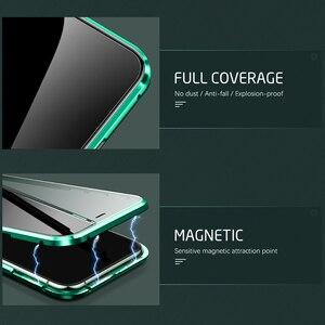 Image 4 - 360 ° מגנטי Flip מקרה עבור Xiaomi POCO F3 POCOPHONE F3 pocof3 קטן poxo f 3 3f דו צדדי זכוכית מתכת פגוש טלפון כיסוי