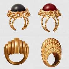 Лучшие Леди ZA «Double Eleven» Винтаж золота обручальные кольца для Для женщин свадебные каменные, в стиле бохо для девочек вечерние кольца ювелирные изделия Лидер продаж